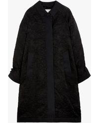Cecilie Bahnsen Black Silk Blend Oversized Coat