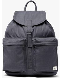 Mackintosh Charcoal Storm System Wool Porter Back Pack - Gray