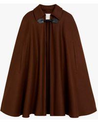 Mackintosh Kinbrace Brown Stone Wool Cape Lm-1041