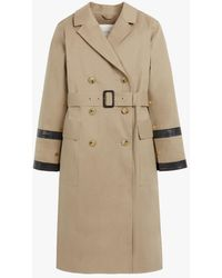 Mackintosh Dearg Fawn Bonded Cotton Trench Coat Lr-1027 - Natural