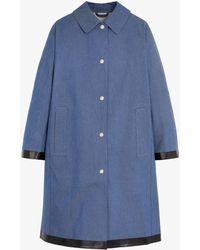 Mackintosh Fairlie Bonded Denim Coat Lr-079 - Blue