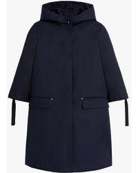 Mackintosh Mingulay Navy Raintec Cotton Hooded Coat Lm-1061b - Blue