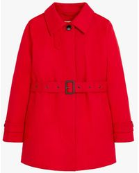 Mackintosh Short Roslin Red Raintec Cotton Single Breasted Trench Coat Lms-061