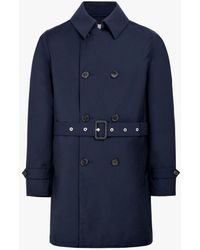 Mackintosh Navy Storm System Wool Short Trench Coat | Gm-005bs - Blue