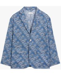 Mackintosh Blue Cotton Liberty Print Blazer