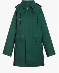 Mackintosh Denny Cedar Oversized Bonded Cotton Hooded Coat Gr-123dw - Green