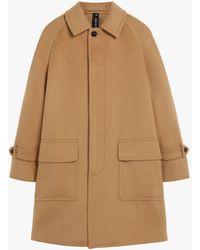 Mackintosh Arnhall Beige Wool & Cashmere Overcoat Gm-1099f - Brown