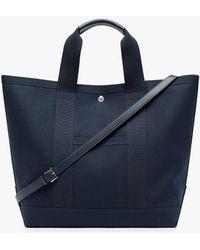 Mackintosh Navy Cotton Large Tote Bag Acc-005 - Blue