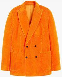 Mackintosh Tokyo Orange Linen & Cotton Corduroy Double Breasted Jacket Gbf-100