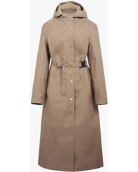 Mackintosh 1017 Alyx 9sm Fawn Bonded Cotton Hooded Coat - Natural