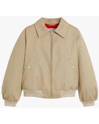 Mackintosh Polla Beige Bomber Jacket Lm-1071b - Natural
