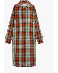 Mackintosh Multi-colour Check Wool Blend Coat | Gm-13bs/sh/w - Multicolour
