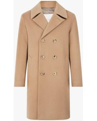 Mackintosh - Beige Double Breasted Wool And Cashmere Coat - Lyst