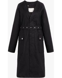 Mackintosh Black Storm System Linen V-neck Coat Lm-096b