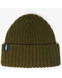Mackintosh Kemet Military Green Wool Beanie