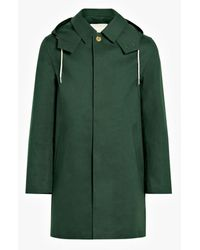 Mackintosh Cedar Bonded Cotton Short Hooded Coat | Gr-010 - Green