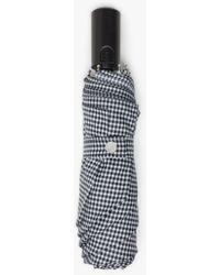 Mackintosh Ayr Gingham Check Automatic Telescopic Umbrella Acc-027 - Black
