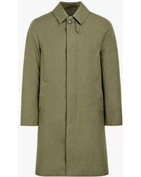 Mackintosh Khaki Cotton Storm System 3/4 Coat Gm-001bs - Green