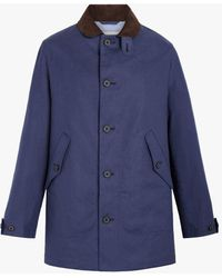 Mackintosh Bloomsbury Denim Linen Jacket - Blue