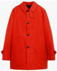 Mackintosh Torrent Red Cotton Short Raincoat Gmm-202 - Orange