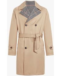 Mackintosh - Beige Reversible Cotton & Wool Trench Coat Gm-120 - Lyst