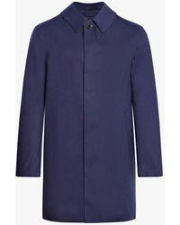 Mackintosh Ink Bonded Cotton Short Coat Gr-002d - Blue