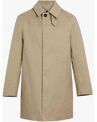 Mackintosh Dunoon Fawn Bonded Cotton Short Coat Gr-1002d - Natural