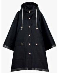 Mackintosh - Black Bonded Cotton Hooded Poncho Lr-088 - Lyst