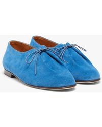 Mackintosh Jacques Solovière Cobalt Blue Suede Lace-up Shoes