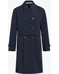Mackintosh Navy Nylon Trench Coat - Blue