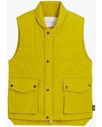 Mackintosh Henting Yellow Nylon Gilet Gqm-205