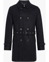 Mackintosh - Black Wool Short Trench Coat Gm-005f - Lyst