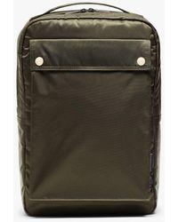Porter Olive Nylon Porter Laptop Backpack - Green