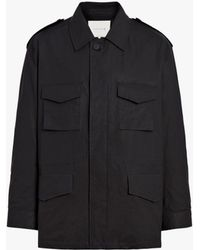 Mackintosh Black Cotton Field Jacket