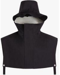 Jil Sander + Black Bonded Cotton Rain Hat