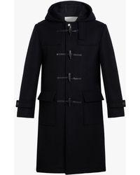 Mackintosh Weir Black Wool Long Duffle Coat | Gm-028