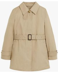 Mackintosh Short Roslin Fawn Raintec Cotton Single Breasted Trench Coat Lms-061 - Natural