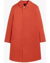 Mackintosh Oxford Jaffa Bonded Cotton 3/4 Coat Grc-108 - Orange