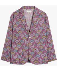 Mackintosh Pink Cotton Liberty Print Blazer