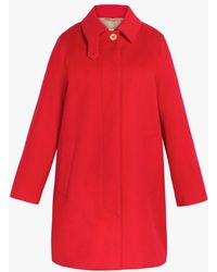 Mackintosh Dunoon Scarlet Storm System Wool 3/4 Coat Lm-1021f - Red