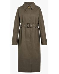 Mackintosh Taupe & Fawn Bonded Cotton Single-breasted Trench Coat Lr-061/cb - Gray