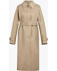 Mackintosh Fawn Bonded Cotton Single Breasted Trench Coat Lr-061 - Brown