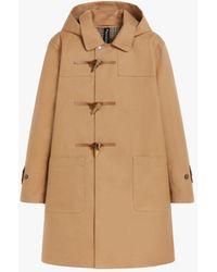 Mackintosh Rogart Camel Bonded Wool Duffle Coat Gr-1031 - Natural