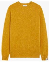Mackintosh Hutchins Yellow Wool Crew Neck Jumper