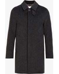 Mackintosh - Charcoal Storm System Wool Short Coat Gm-002f - Lyst