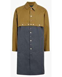 Mackintosh 0004 Autumn & Iron Gray Bonded Cotton 0004 Two Layer Coat