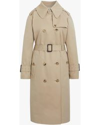 Mackintosh Honey Color Block Trench Coat Lm-062bs/cb - Natural