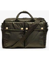 Porter Olive Nylon Porter 2-way Briefcase - Green