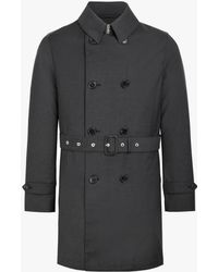 Mackintosh Charcoal Wool Storm System Short Trench Coat Gm-005bs - Grey