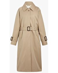 Mackintosh Honey Cotton Single Breasted Trench Coat Lm-097bs - Natural
